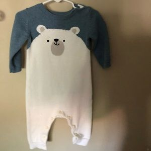 Gymboree knit polar bear bodysuit